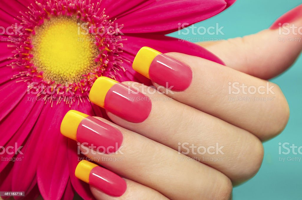 Two-tone manicure. stock photo