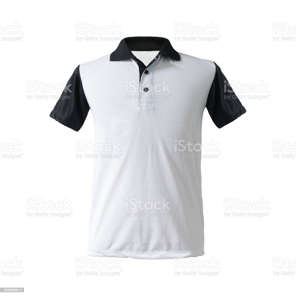 A Twotone Polo Shirt Black Sleeve And Collar On Isolated Background
