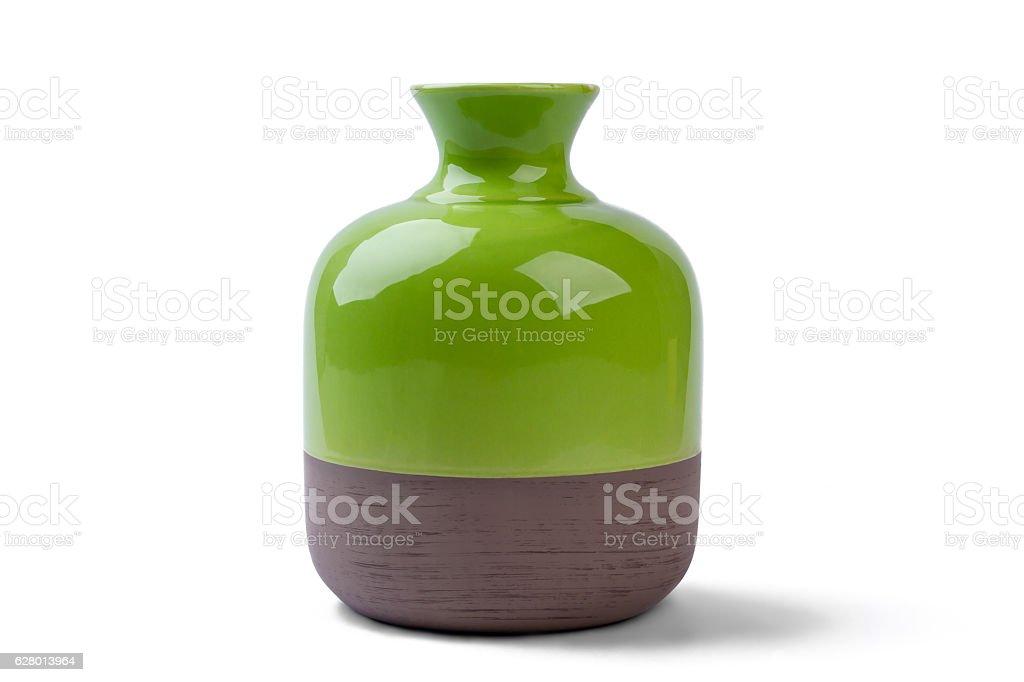 Two-tone vase isolated. stock photo