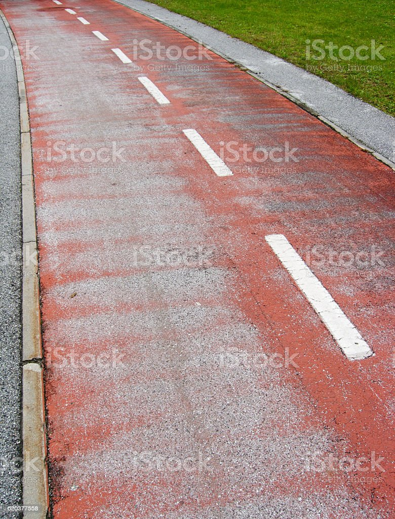 Two-way cycle track foto de stock royalty-free