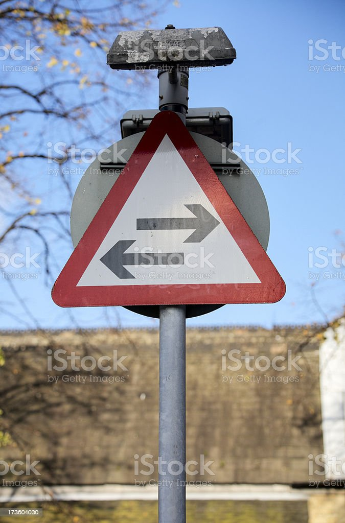 Two-way Street. royalty-free stock photo