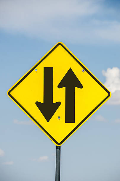 Warning signs on the road - THE HIGHWAY CODE |Two Way Traffic Ahead Sign
