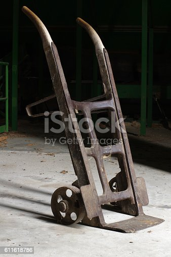 two-wheeled hand truck vintagge