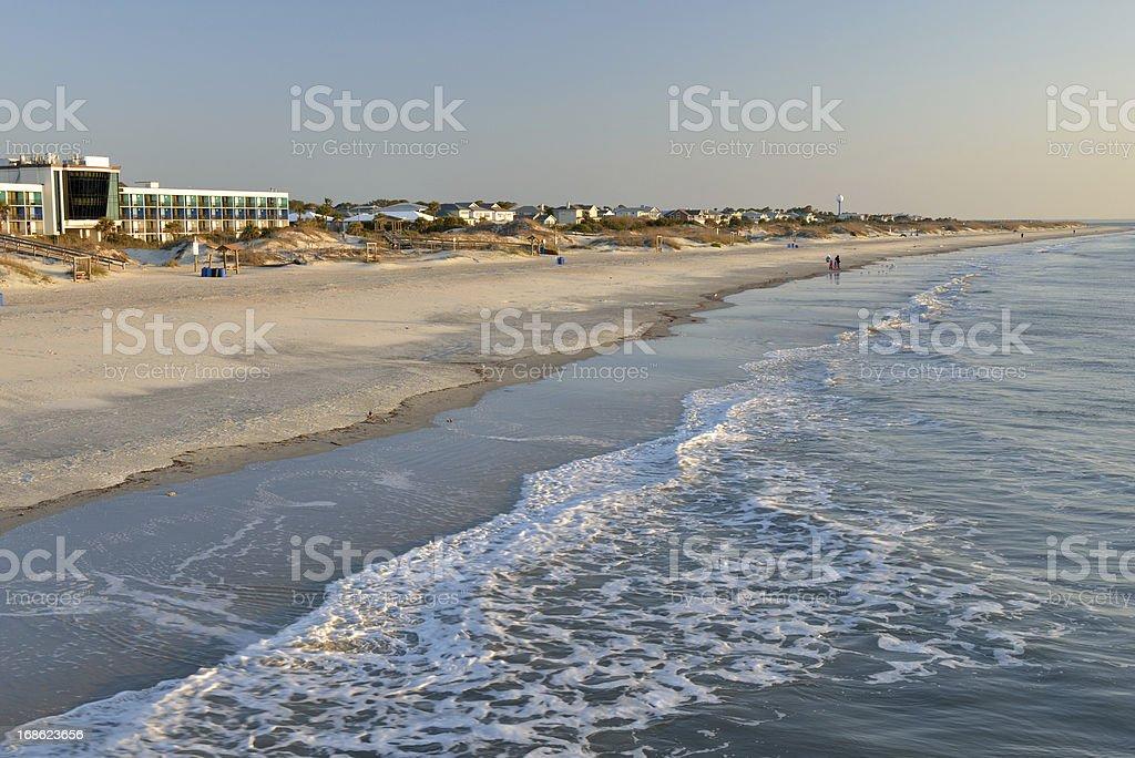 Tybee Island Beach at Sunrise stock photo