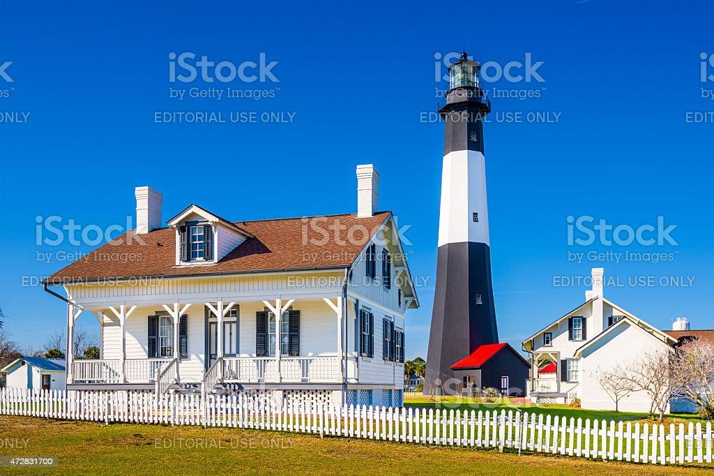 Tybee Island Light stock photo
