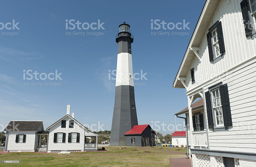 Tybee Island Lighthouse, Georgia stock photo