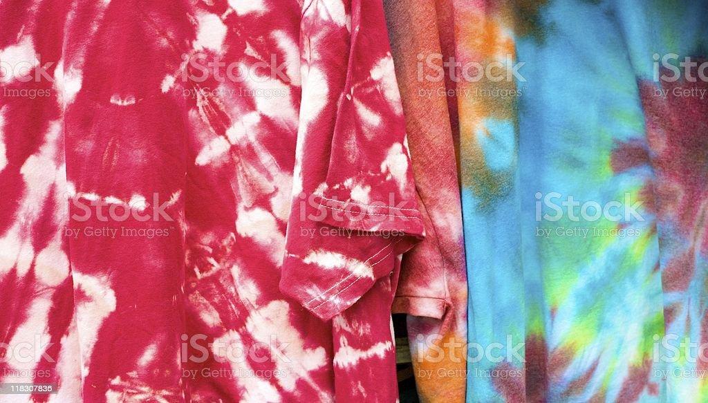 tyedye T-shirts stock photo