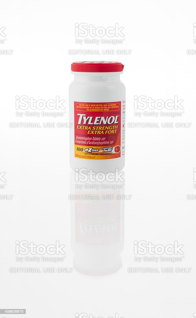 Tylenol Extra Strength eZtabs  Tablets Bottle stok fotoğrafı