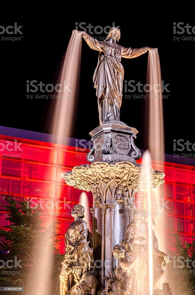 Tyler Davidson Fountain, Cincinnati, Ohio stock photo