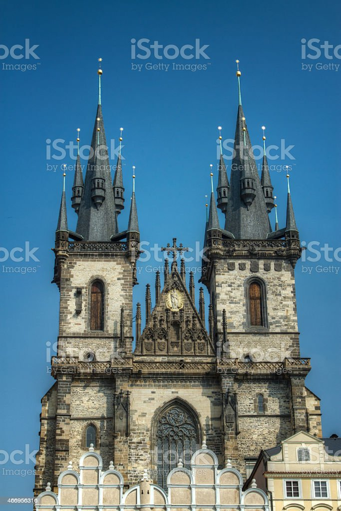 Tyn Church. stock photo