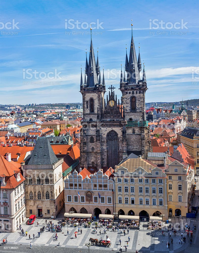 Tyn Church (Tynsky Chram), Prague stock photo