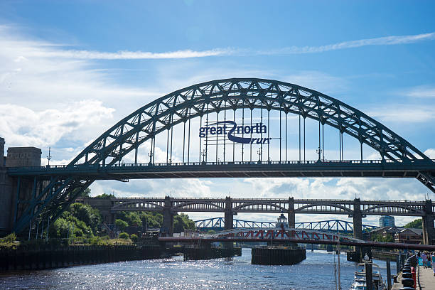 Tyne Bridge - Great North Run stock photo