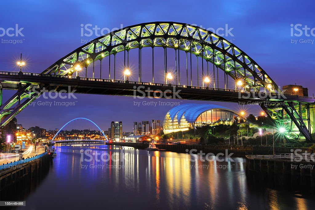 Tyne Bridge, Newcastle, England stock photo