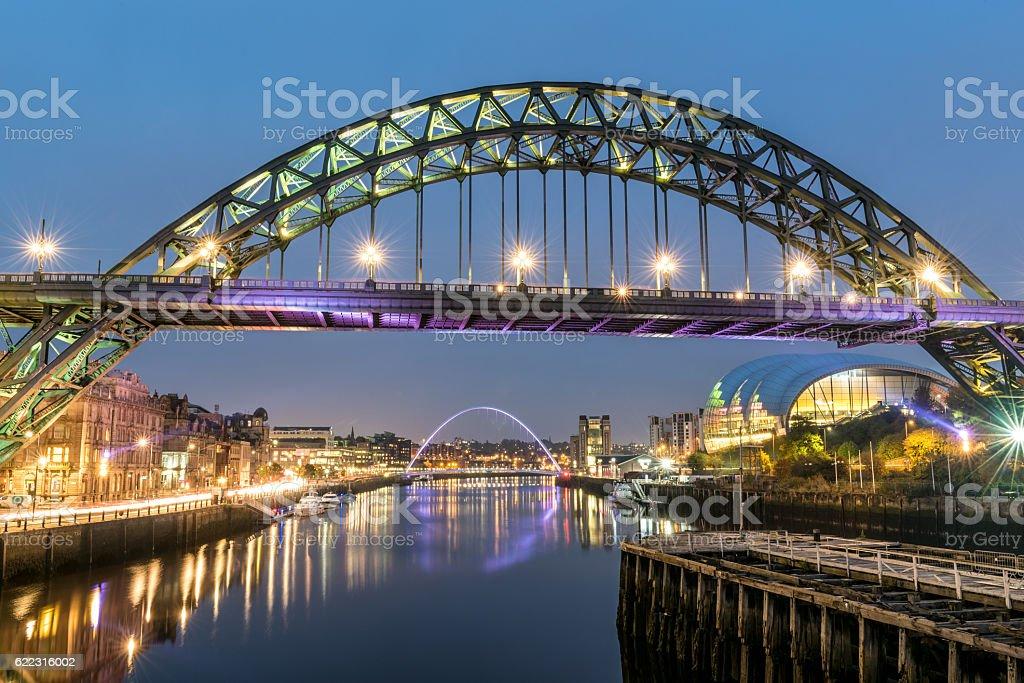 Tyne Bridges stock photo