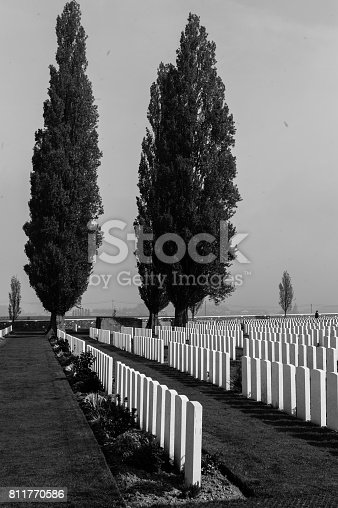 Tyne Cot is one of the largest World War I cemetaries in the Flanders Fields in the area around Ypres and Passchendale