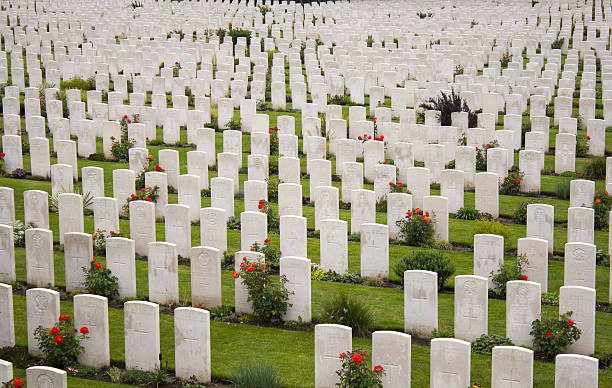Tyne Cot Cemetery Zonnebeke Ypres Salient Battlefields Belgium stock photo