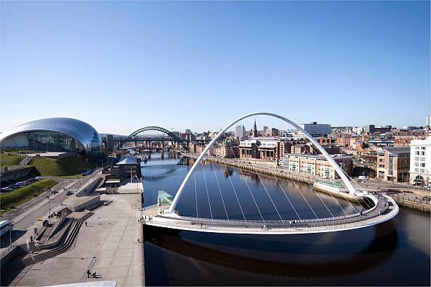 Tyne Quayside, Newcastle stock photo