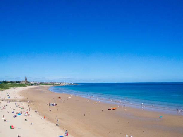 Tynemouth Beach stock photo