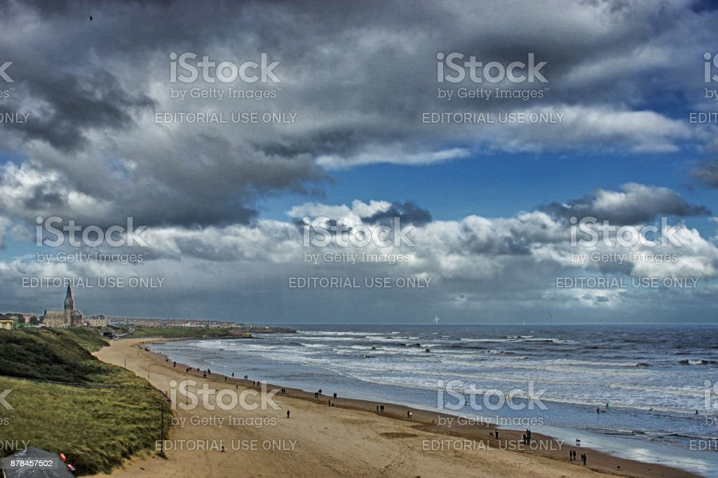Tynemouth beach stock photo