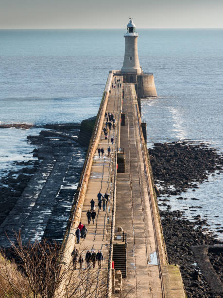 tynemouth pier - stephen lynn stock pictures, royalty-free photos & images