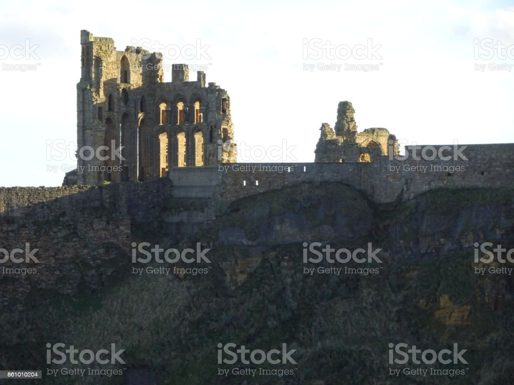 Tynemouth Priory stock photo