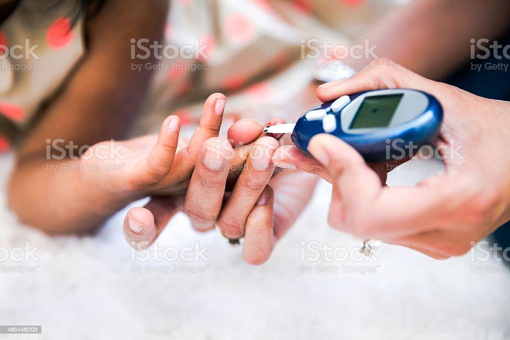 Type 1 Diabetes management stock photo