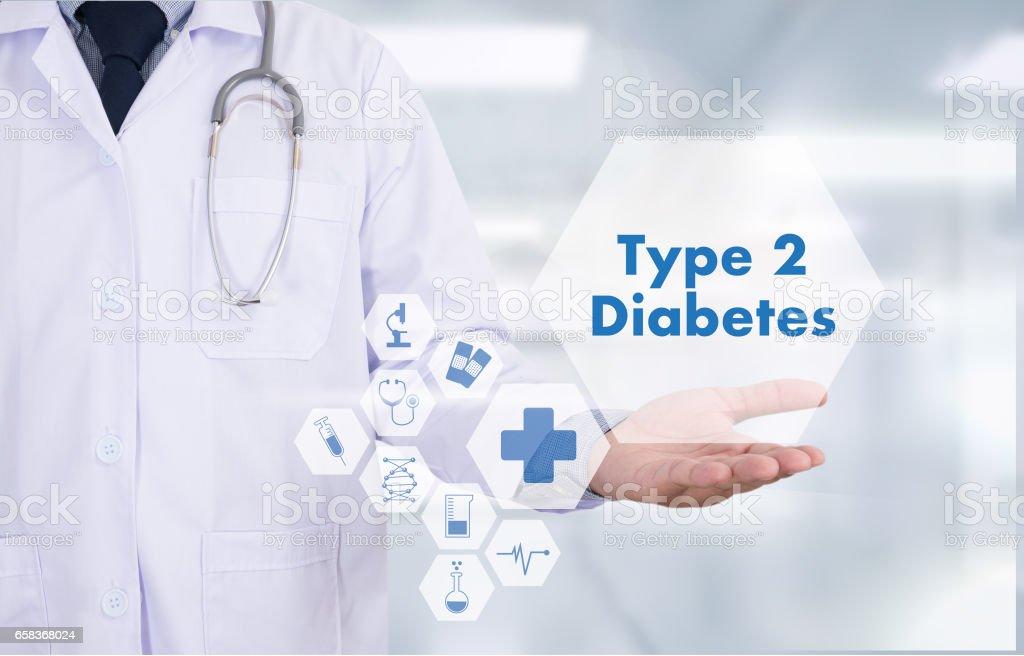 type 2 diabetes doctor a test disease health medical concept – Foto