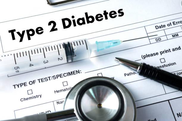 typ-2-diabetes arzt eine krankheit gesundheit medizinische testkonzept - hyperglycemia stock-fotos und bilder
