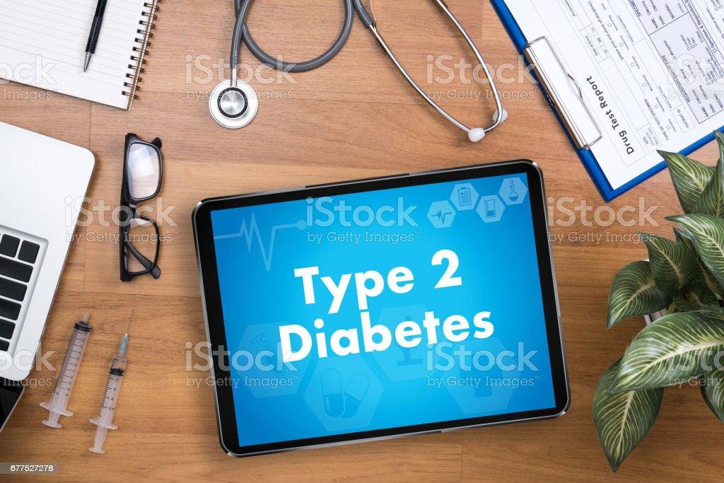 Typ-2-Diabetes Arzt eine Krankheit Gesundheit medizinische Testkonzept – Foto