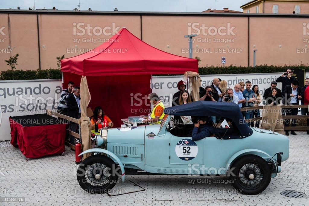 Bugatti Type 40 An Old Racing Car In Rally Mille Miglia 2017 The ...