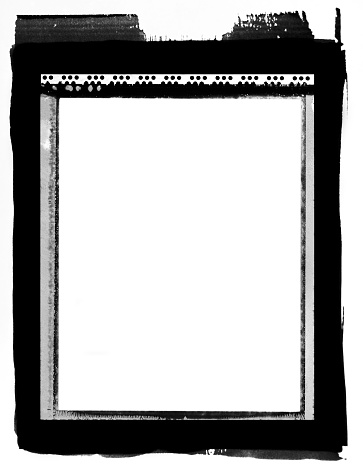 Type 55 format film frame contact printed.