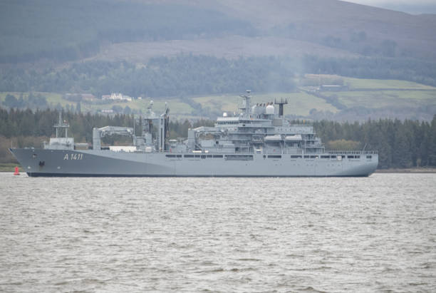 Type 702 Berlin-class replenishment ship stock photo