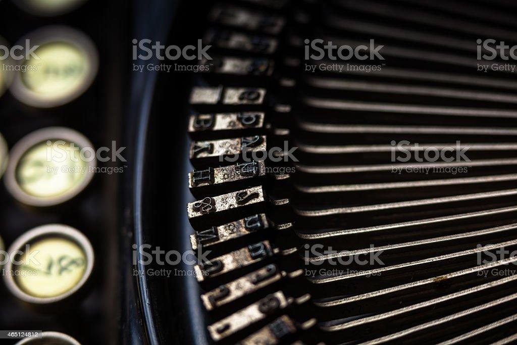 Type Bars Detail stock photo