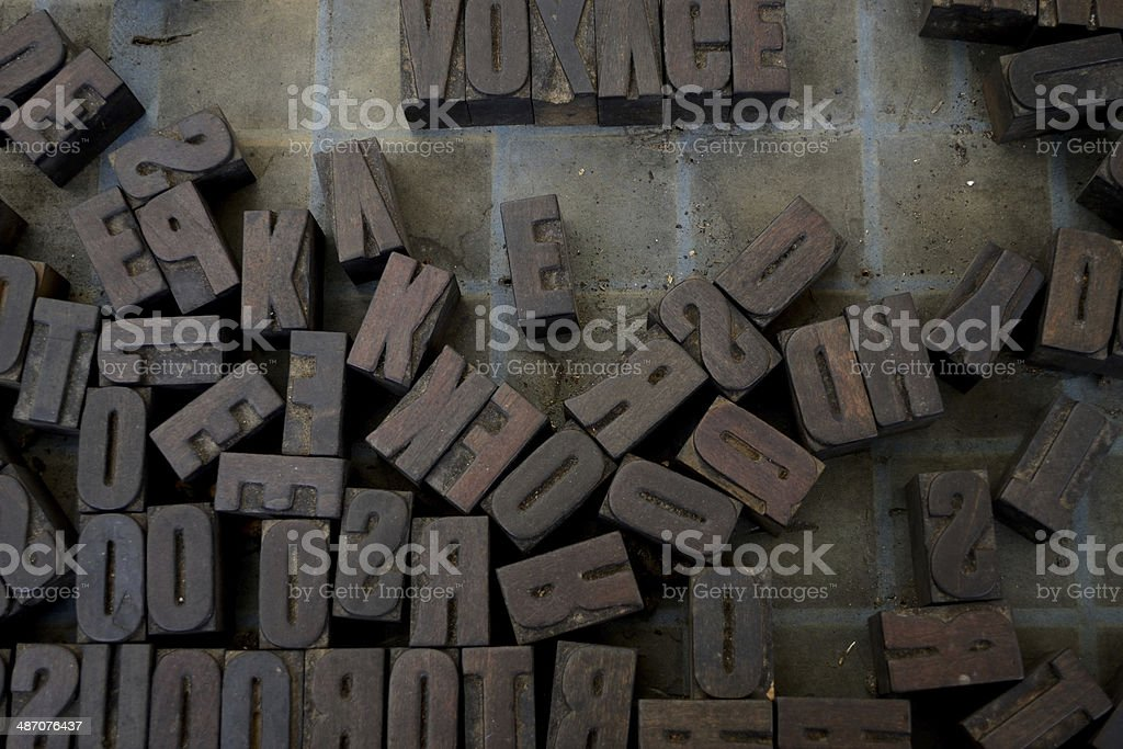 type block stock photo
