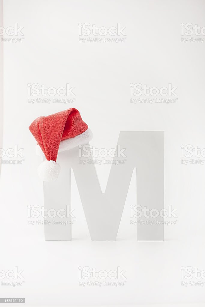 M type christmas royalty-free stock photo