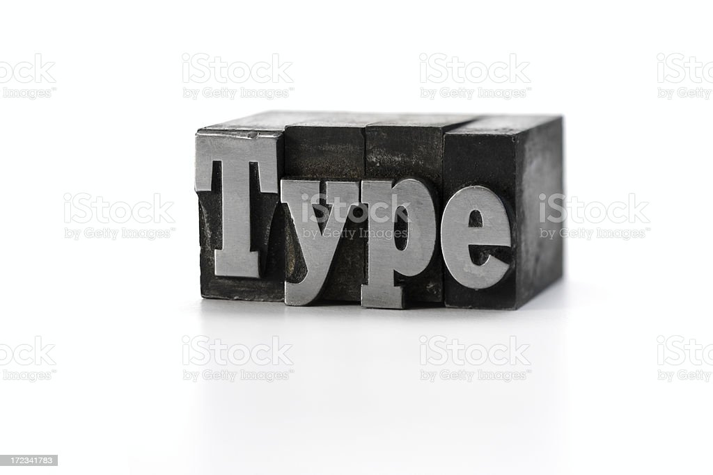 Type letterpress royalty-free stock photo