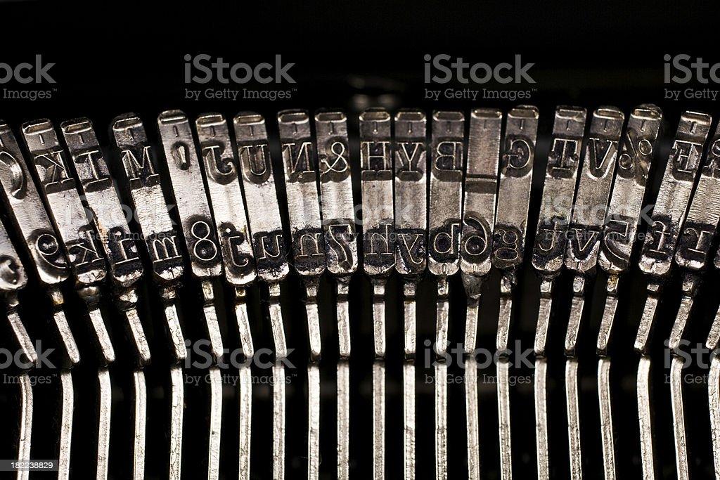 Typebars royalty-free stock photo