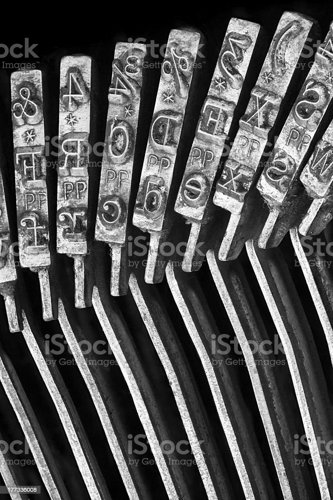 Typerwriter Macro royalty-free stock photo