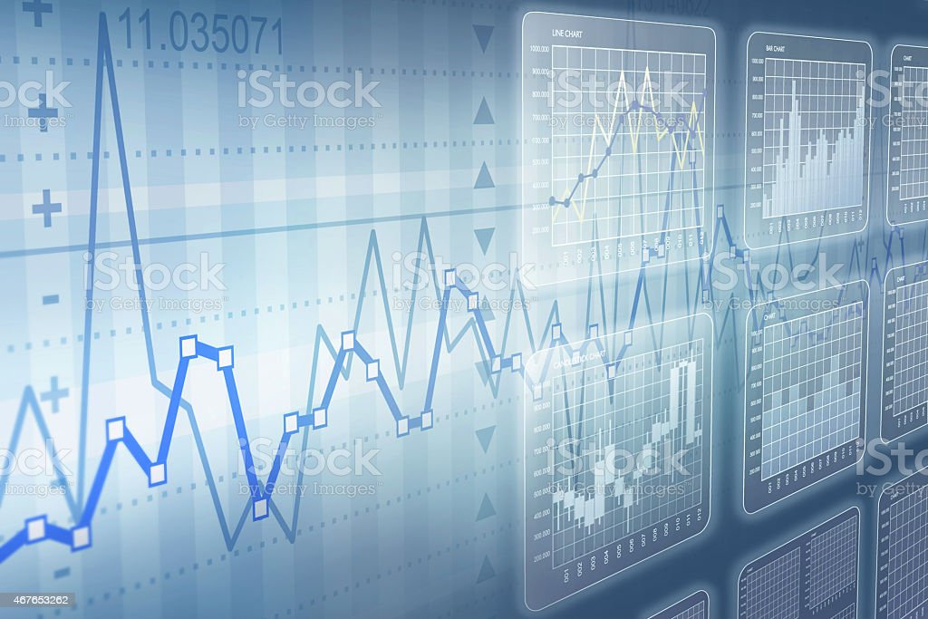 Types of charts stock photo