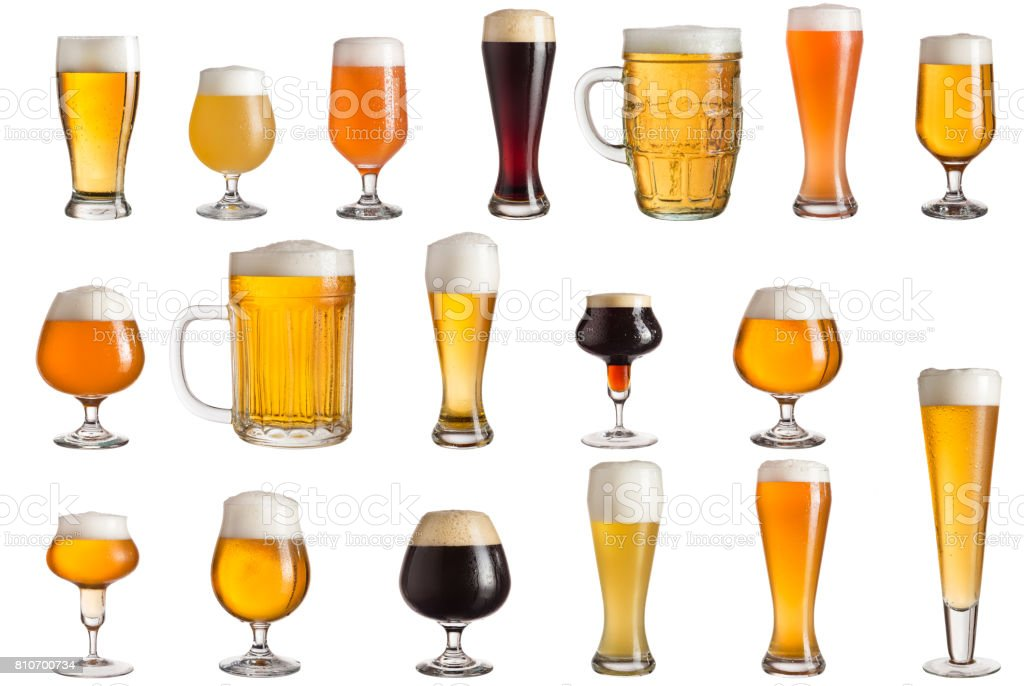 Types of craft beer stock photo