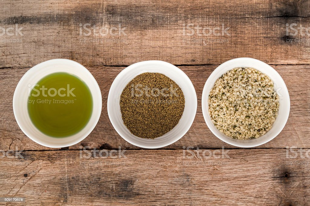 Types of hemp stock photo