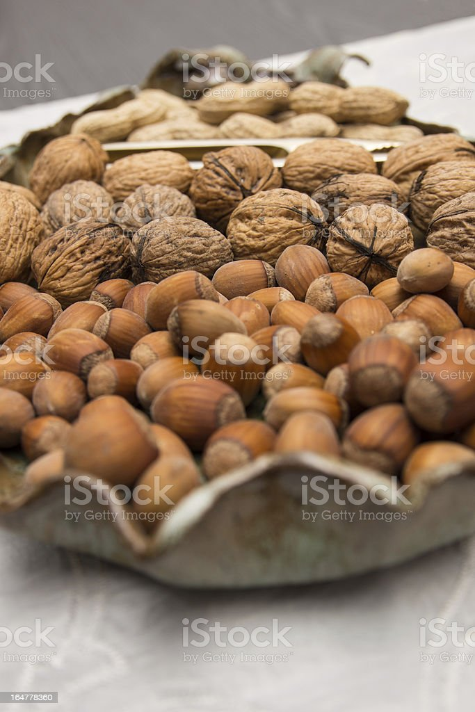 Types of nuts royalty-free stock photo