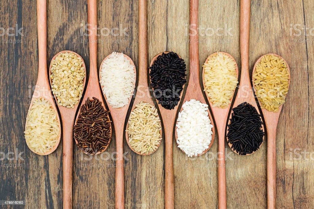 Types of rice stock photo
