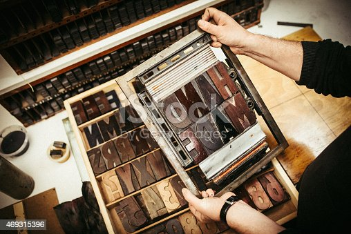 511318324 istock photo Typesetting for Letterpress Printing 469315396