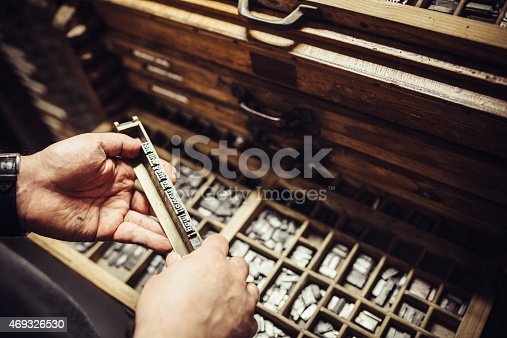 511318324 istock photo Typesetting for Letterpress Printing 469326530