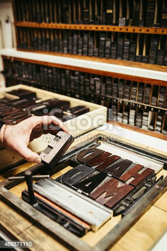 511318324 istock photo Typesetting for Letterpress Printing 469371110