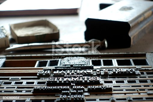 511318324 istock photo Typesetting for Letterpress Printing 926369934