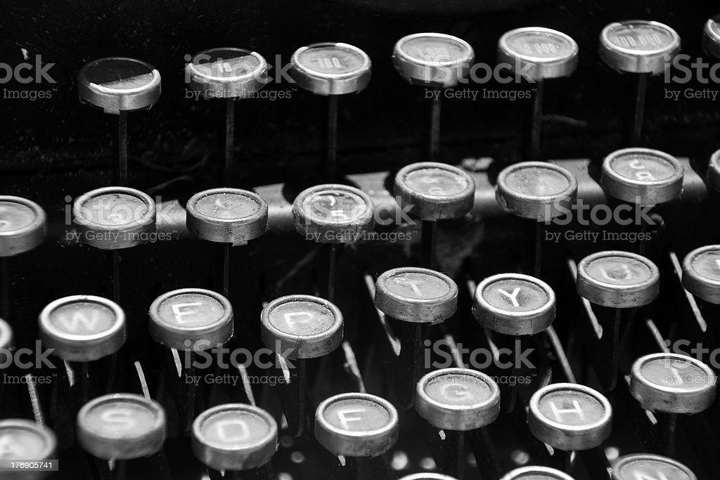 typewriter 30 years old royalty-free stock photo