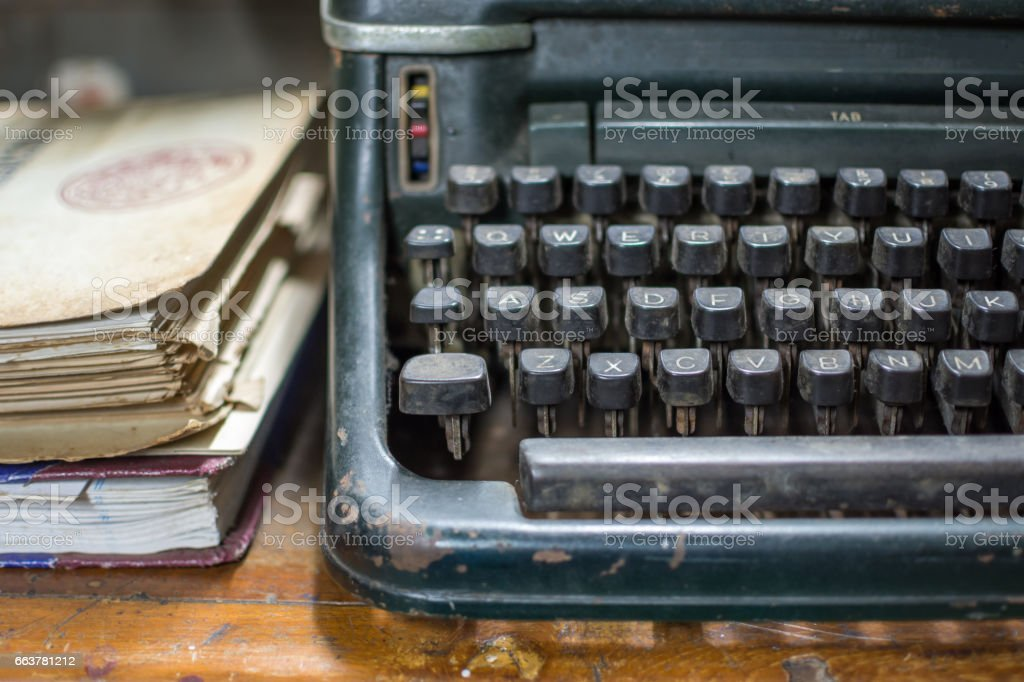 Fantastic Typewriter Antique Vintage Style With Old Documents Stock Download Free Architecture Designs Embacsunscenecom