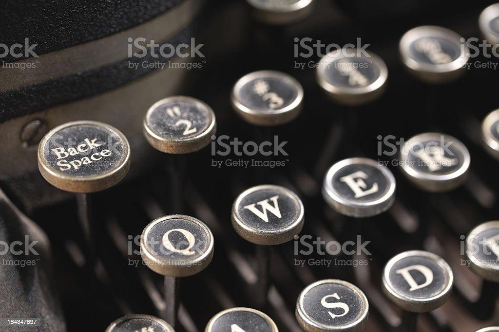 Typewriter Back Space royalty-free stock photo